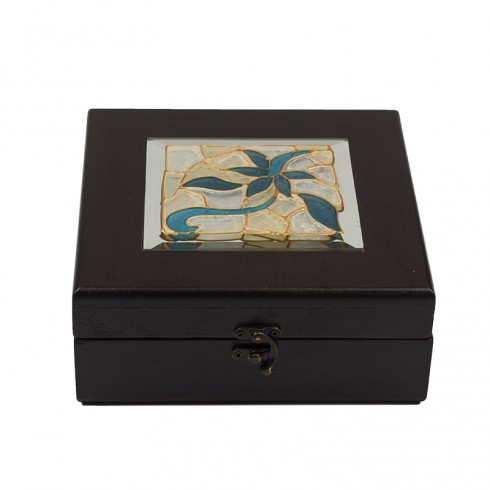 Flower Mosaic Tea Box