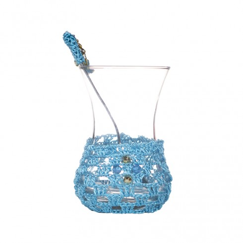 Tea Glasses with Crochet Set